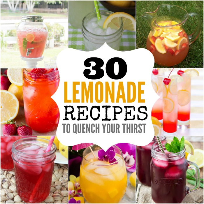 Take a look at the top homemade lemonade recipes. You will find the best lemonade recipes. It's the perfect drink for summer!
