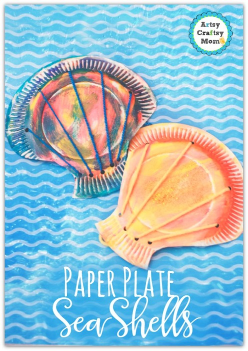 Paper Plate Seashell Craft