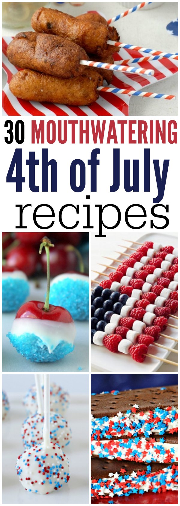 Check out the best 4th of July Recipes. Everyone will love these easy 4th of july recipes that are perfect for BBQ's. Over 30 4th of july bbq food ideas.