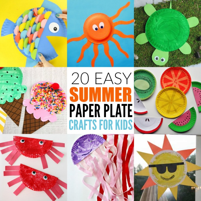 Take A Look At These Easy Summer Paper Plate Crafts For Kids Plates Make Great