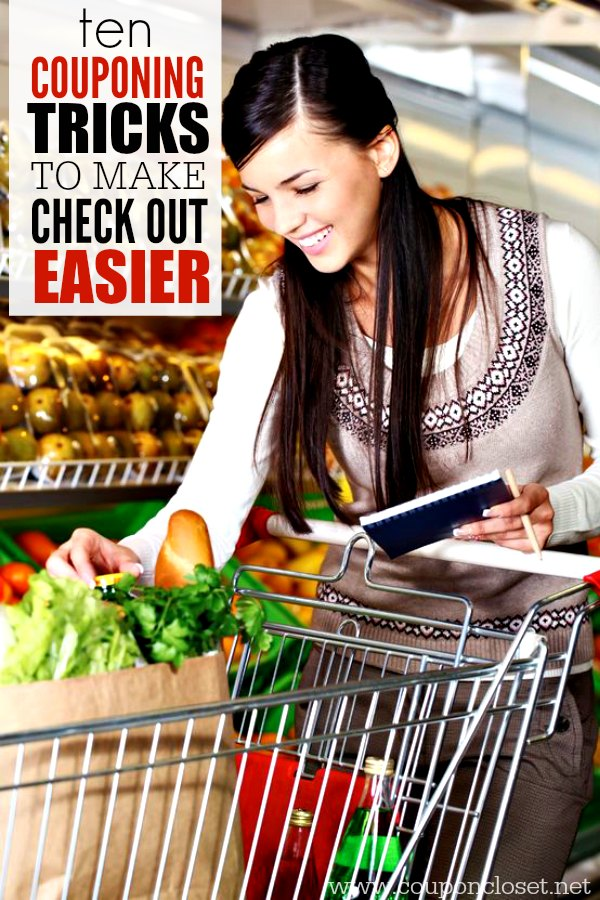 Find the top 10 couponing tricks to make checkout easier using coupons. Reduce stress and make checkout a breeze with these couponing tricks.