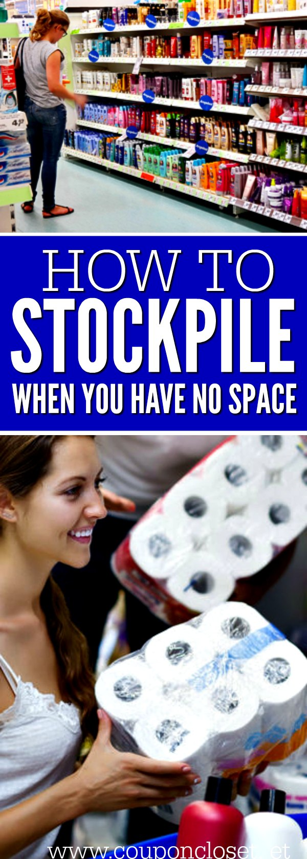 Learn how to stockpile when you don't have any space.12 tips for stockpiling when you don't know where to put it! Maximize your space and build a stockpile.