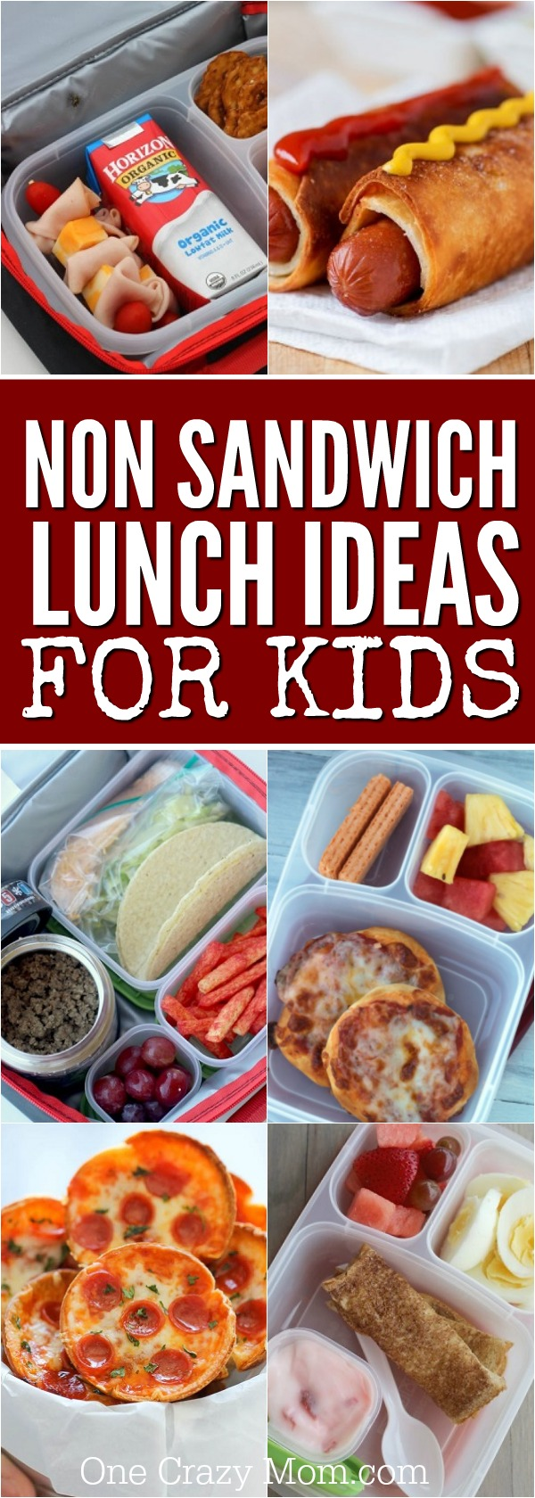 If your kids are tired of sandwiches, check out these ideas! 20 non sandwich lunch ideas for kids that are yummy and kid approved!
