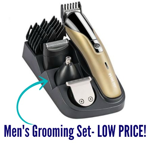 men s grooming kit only shipped includes clipper trimmer more coupon closet. Black Bedroom Furniture Sets. Home Design Ideas