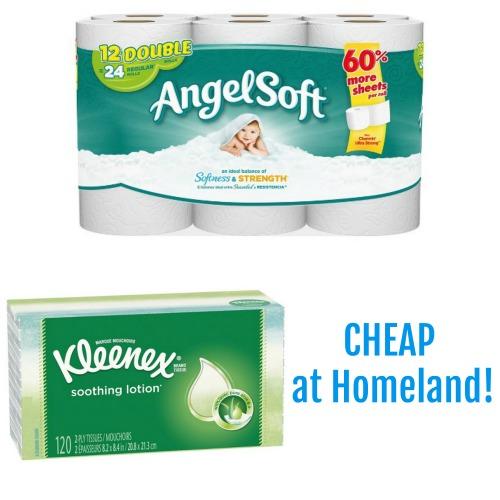 Cheap At Homeland Kleenex And Angel Soft Bath Tissue Coupon Closet